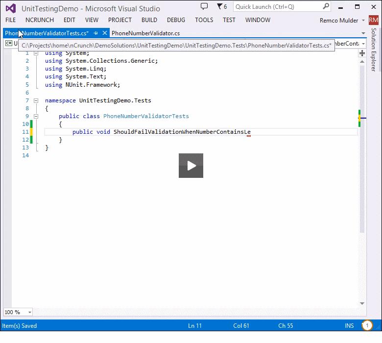 NCrunch for Visual Studio