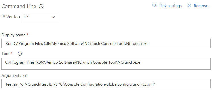 Console Tool Usage - NCrunch Documentation